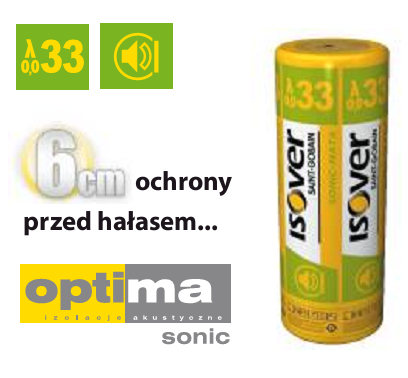 Welna Mineralna Sonic Mata Isover Eps 033 Grubosc 30 Mm Cena Za M2