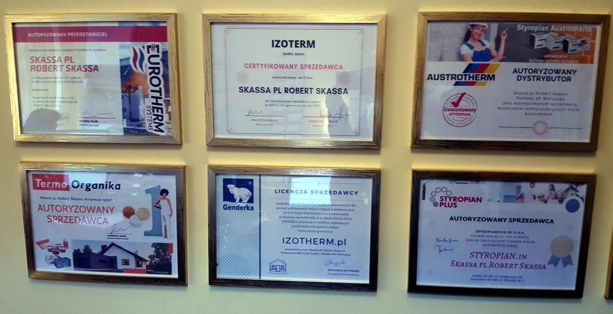 Certyfikaty sprzedawcy